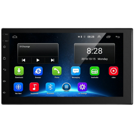 Autoradio Double Din Android Multimedia Universel Compatible Commandes au Volant Iphone Smartphone DAB+ DAB WIFI