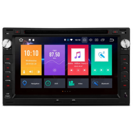 Poste Radio Polo 4 GPS USB 2 DIN Bluetooth Compatible Autoradio VW iv Double Din d'origine Ecran Tactile Phase 1 Phase 2 2006