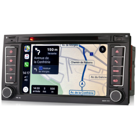 Autoradio T5 Transporter GPS Android 2 DIN Bluetooth Pour VW Volkswagen Origine 2005 2006 2007 2008 2012