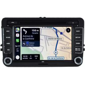 Autoradio Touran GPS Android 2 DIN Bluetooth pour Volkswagen VW 2003 2004 2005 2006 2007 2008 2009 2010 2011 2012 2013 2014