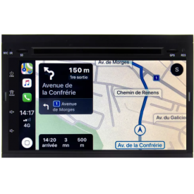 Autoradio C2 Citroën Bluetooth USB GPS Android Double Din Compatible Commandes au Volant D'origine Poste Radio Pour C2 VTS VTR