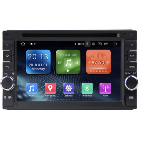 Autoradio 2 DIN Android Auto Carplay Compatible DAB+ DAB Double Din Bluetooth Iphone Waze Wireless sans fil CD DVD Wifi Pas Cher