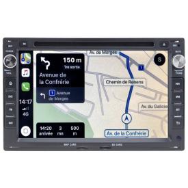Autoradio Double Din VW T4 GPS Android DVD Compatible Transporter Multivan California Caravelle 2 DIN Pour Volkswagen
