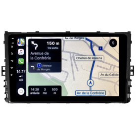 Autoradio Polo 6 Android Auto Apple Carplay GPS Bluetooth Poste Radio Ecran Tactile Compatible D'origine VW 2017 2018 2019 2020