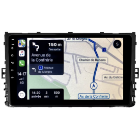 GPS Touran VW Apple Carplay Double Din Ecran Tactile Autoradio Android Main Libre Compatible D'origine Volkswagen