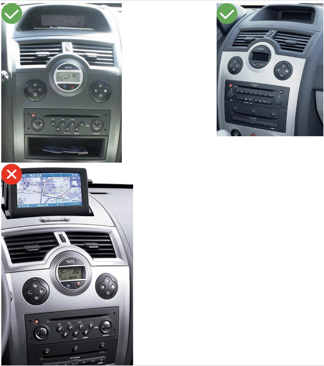 Autoradio Compatible Commande Au Volant Renault Megane 2