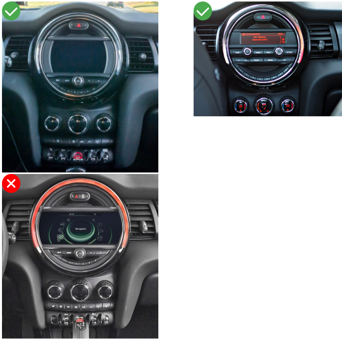 Autoradio GPS Mini Cooper F56 F55 Apple Carplay Android Auto Bluetooth Poste Radio Ecran Tactile Multimédia Compatible D'origine