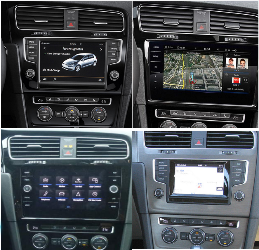 Autoradio Golf 7 Carplay Android Auto GPS Bluetooth Ecran Tesla Compatible D'origine VW Volkswagen Facelift Confortline GTI GTD