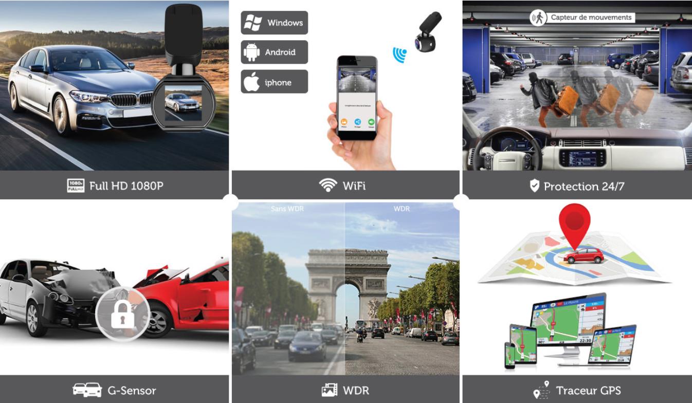 camera dashcam voiture sans fil embarquee wifi full hd discrete odb assurance dashcam full hd wifi
